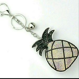 🍍Back in Stock! White Pineapple Key Chain🍍